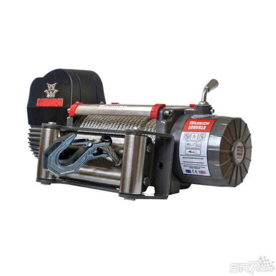 WARRIOR SAMURAI V2 elektromos csörlő 120VS acél kábellel, 5440kg