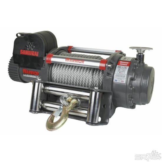 WARRIOR SAMURAI V2 elektromos csörlő 200SS acél kábellel, 9070kg